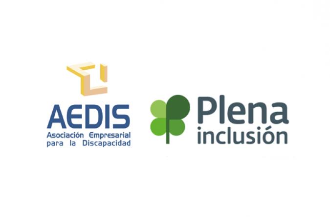 logos aedis y plena inclusión