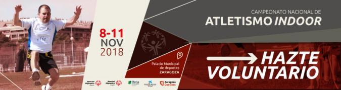 Participa como voluntario en el Campeonato de España de Atletismo que se organiza en Zaragoza.