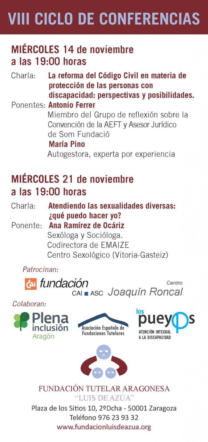 """Ciclo de Conferencias sobre """"Protección y Futuro de las personas con Discapacidad Intelectual"""""""