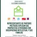 cartel encuentro candidatos elecciones generales